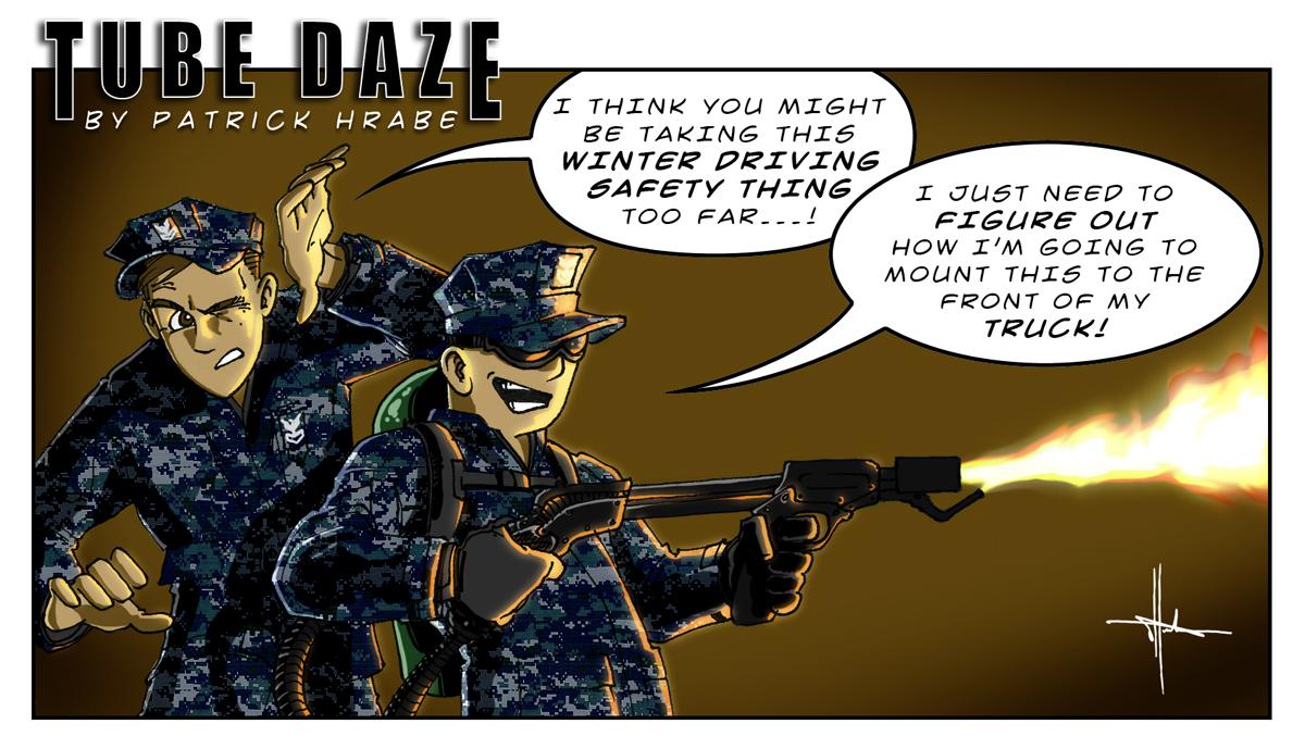 Fatigue Driving Cartoon Winter Driving Cartoon
